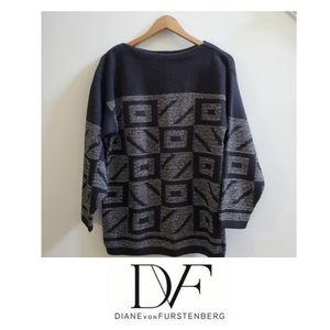 BOGO Sale! Diane Von Furstenberg Sweater black silver
